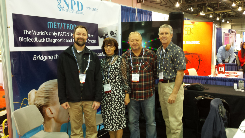 Left to Right: Dr. Jason Siczkowyz (NPD), Dr. Vera Nesterova (IPP), Vladimir Nesterov (Metatron Inventor), Steve Morgeson (NPD)